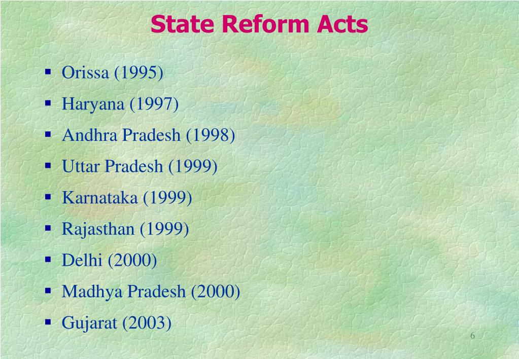 State Reform Acts