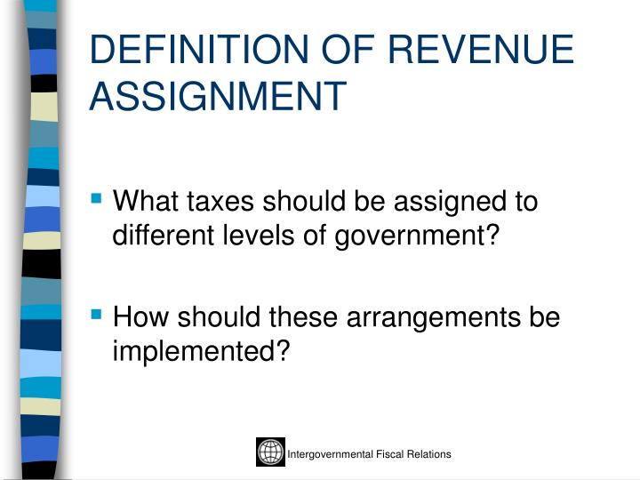 Definition of revenue assignment