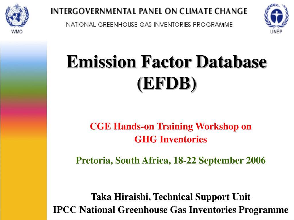 Emission Factor Database (EFDB)