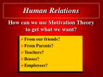 how can we use motivation theory to get what we want
