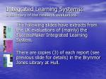 integrated learning systems a summary of the research evaluations13