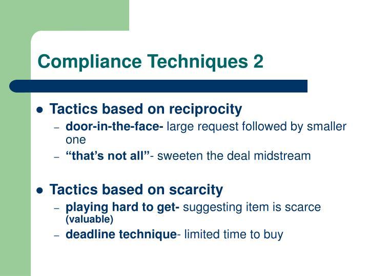 Compliance Techniques 2