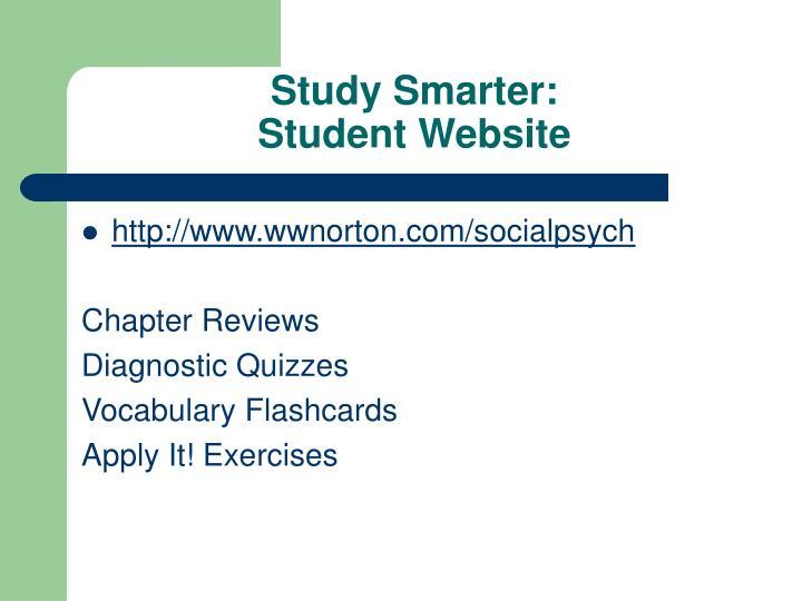 Study Smarter:
