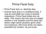 prima facie duty