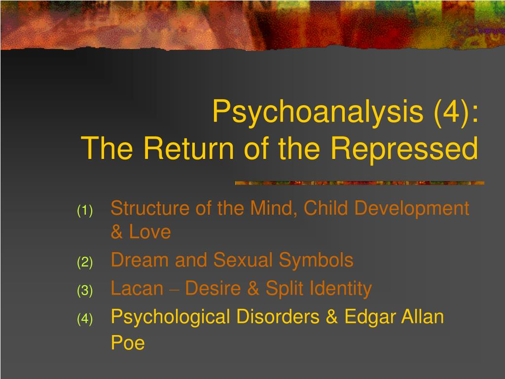 Ppt psychoanalysis 4 the return of the repressed powerpoint psychoanalysis 4 the return of the repressed l buycottarizona