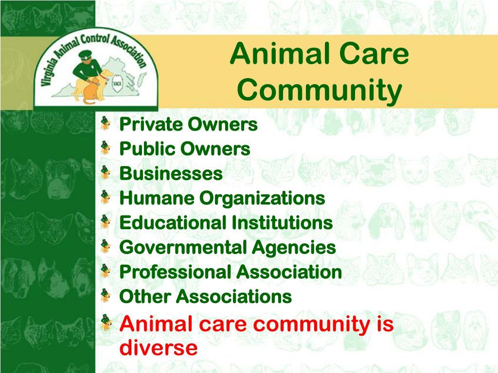 Animal Care Community