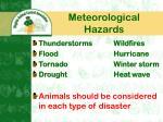 meteorological hazards