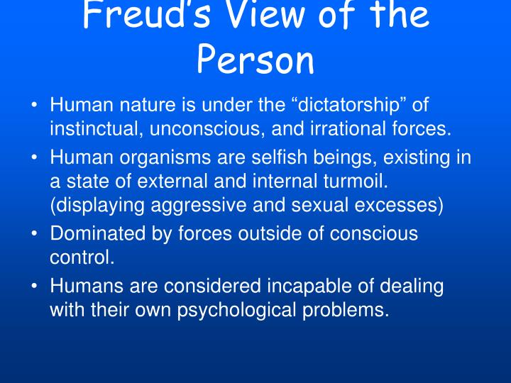 Freud's View of the Person