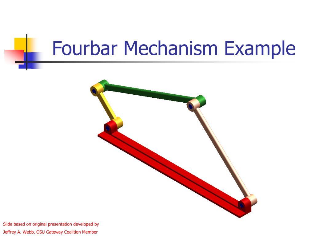 Fourbar Mechanism Example