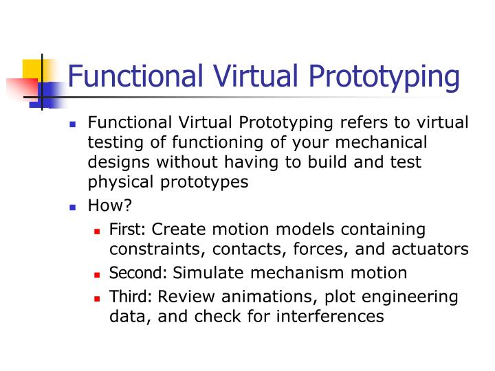 Functional virtual prototyping
