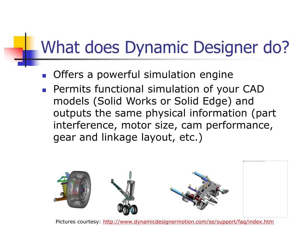 What does Dynamic Designer do?