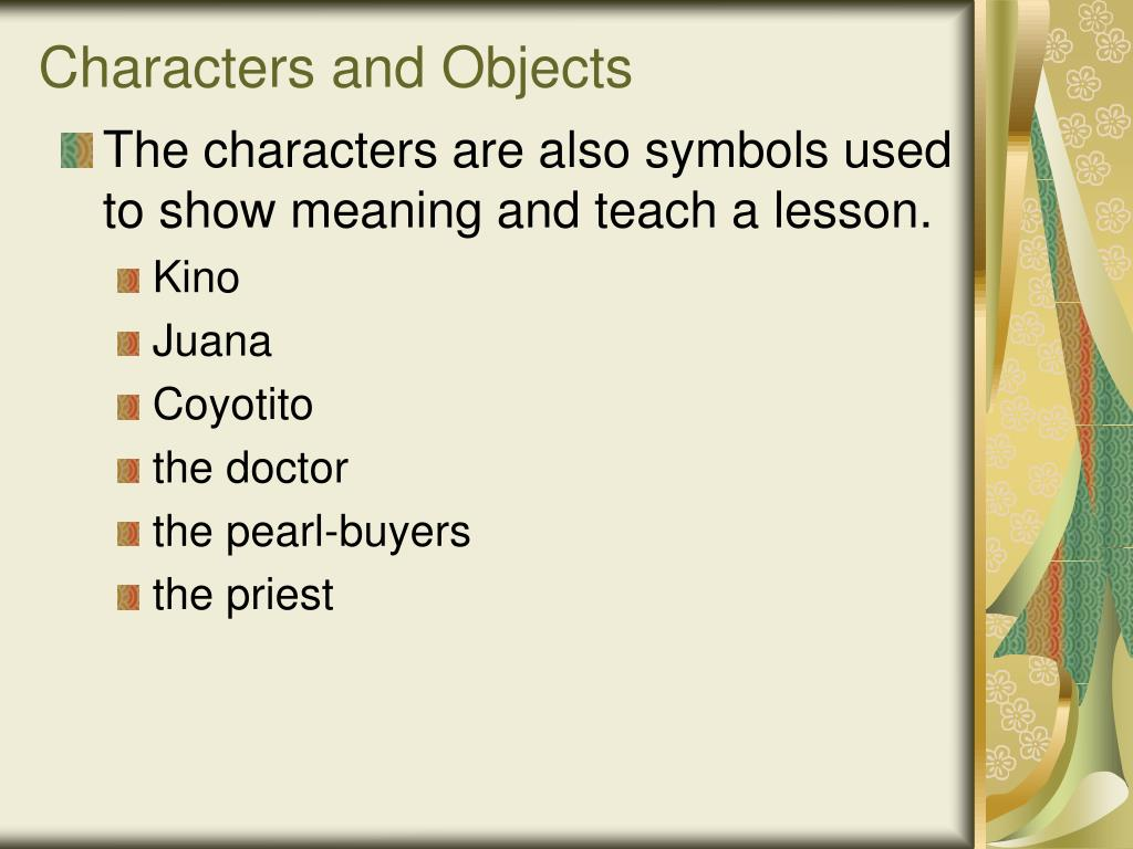 Characters and Objects