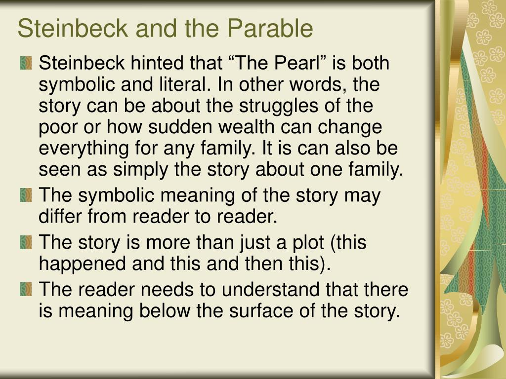 Steinbeck and the Parable