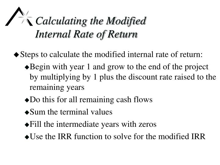 Calculating the Modified