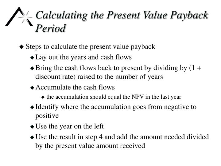 Calculating the Present Value Payback Period