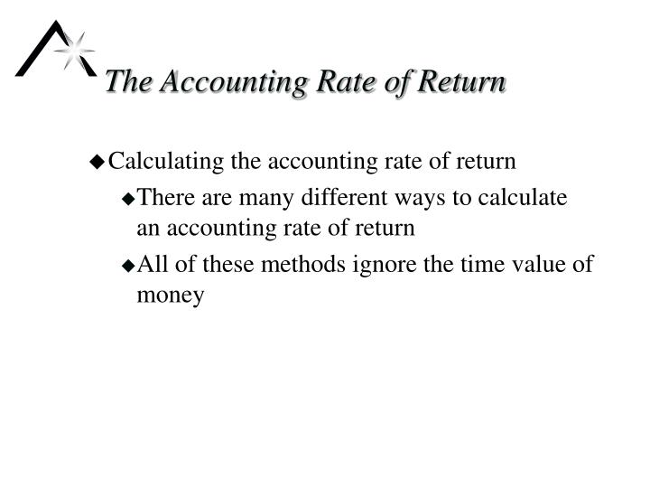 The Accounting Rate of Return