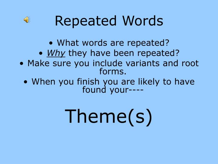 Repeated Words