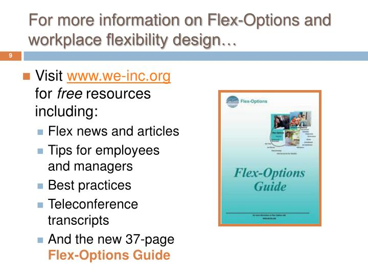 For more information on Flex-Options and workplace flexibility design…