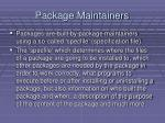 package maintainers