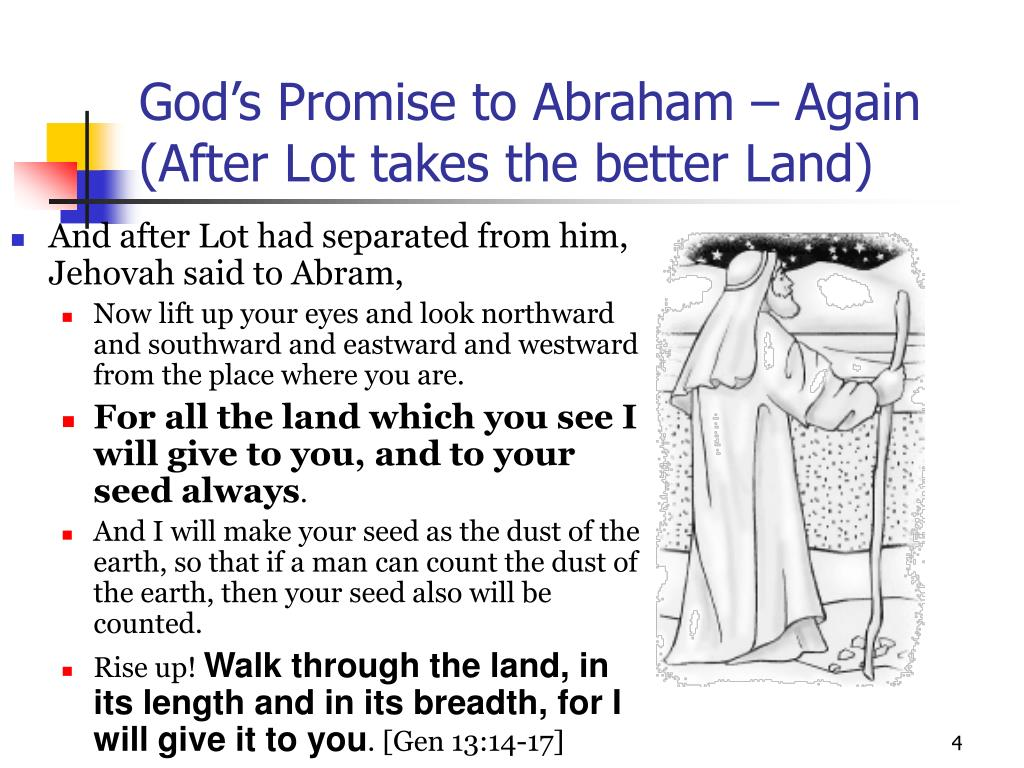 God's Promise to Abraham – Again (After Lot takes the better Land)