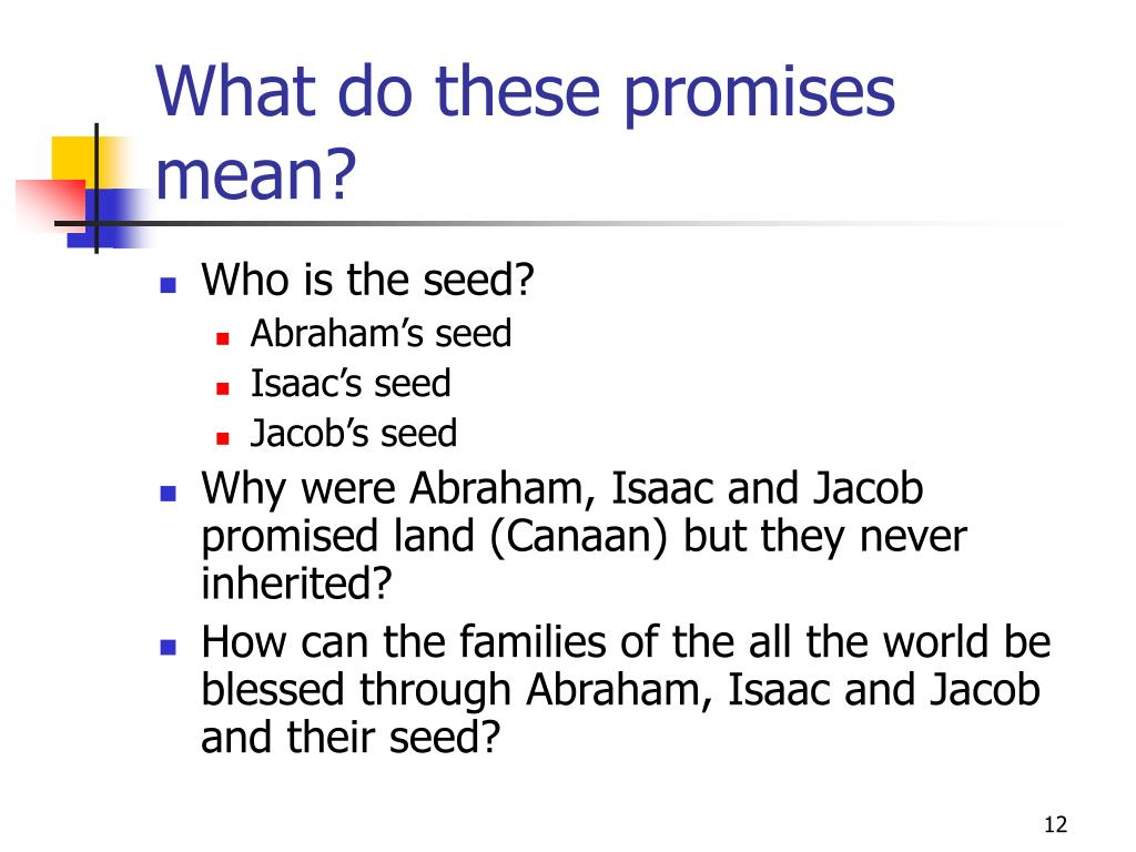 What do these promises mean?