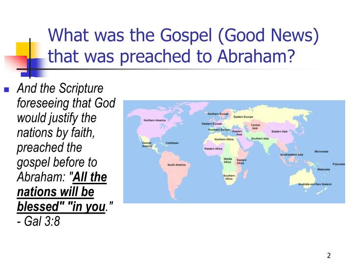 What was the gospel good news that was preached to abraham