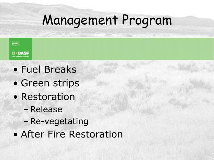 Management program