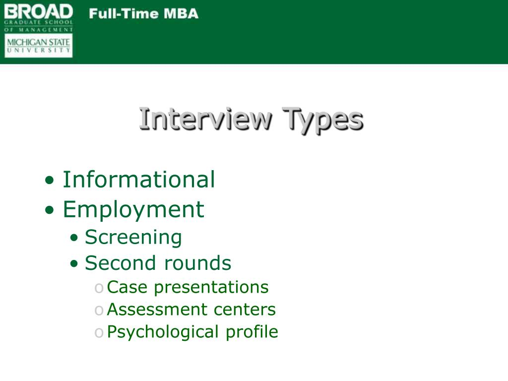 Interview Types