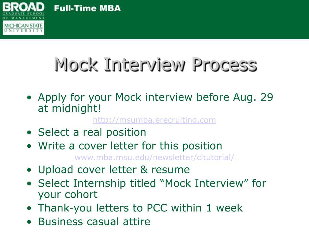 Mock Interview Process