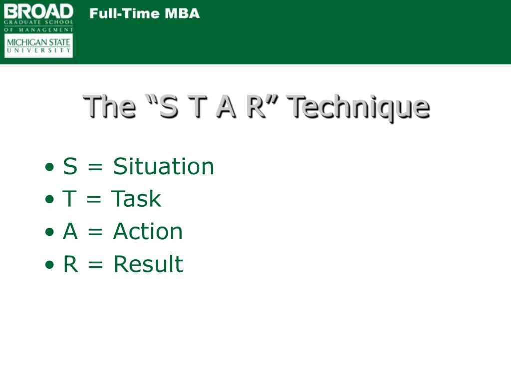 """The """"S T A R"""" Technique"""