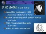 d w griffith b 1875 d 1948