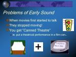 problems of early sound
