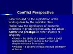 conflict perspective3