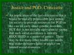 justice and pgd criticisms26
