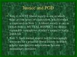 justice and pgd30