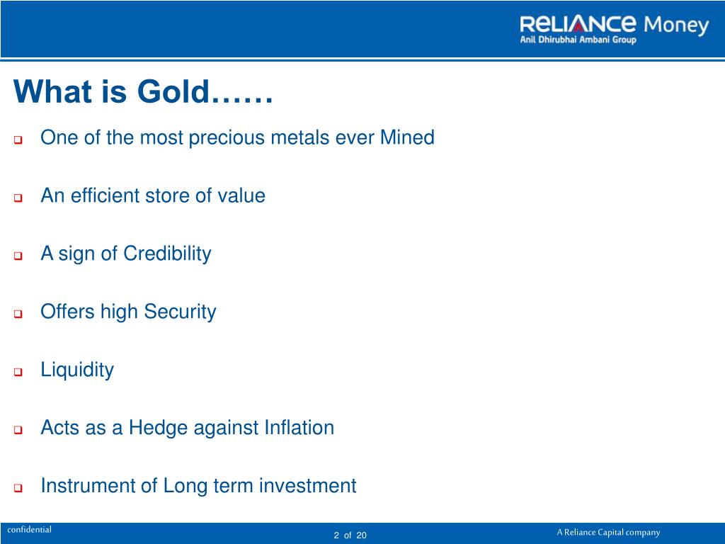 What is Gold……
