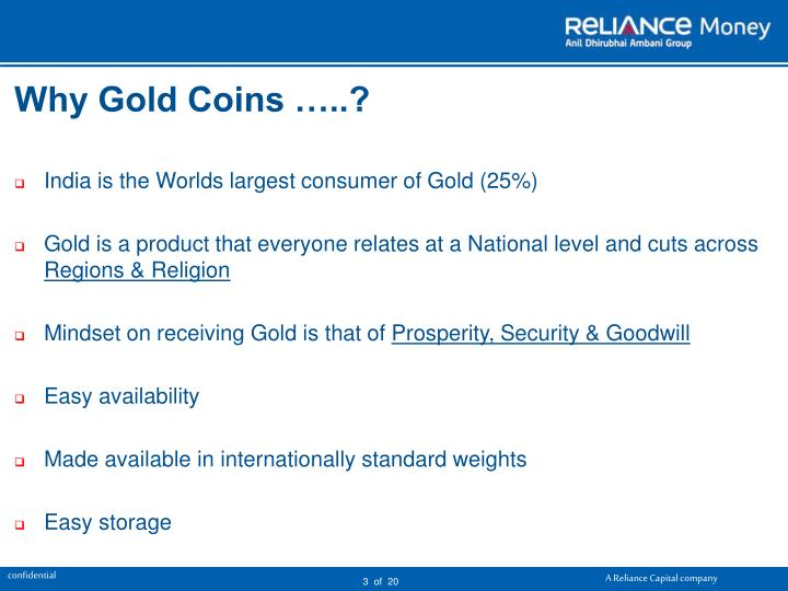 Why gold coins