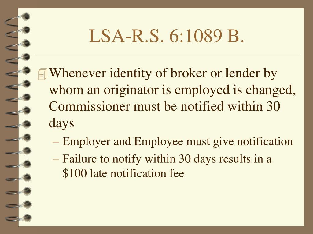LSA-R.S. 6:1089 B.