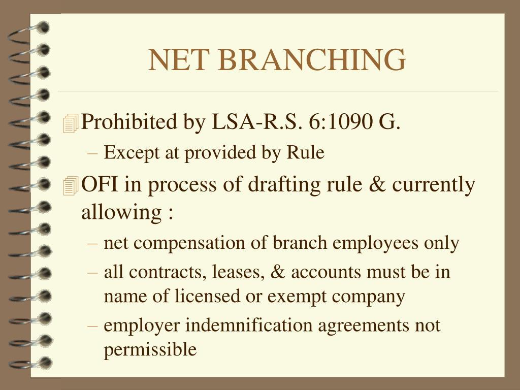 NET BRANCHING
