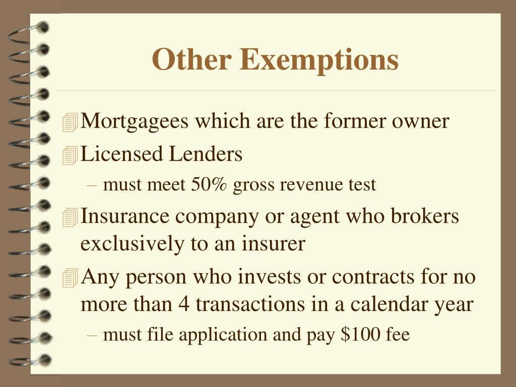 Other Exemptions