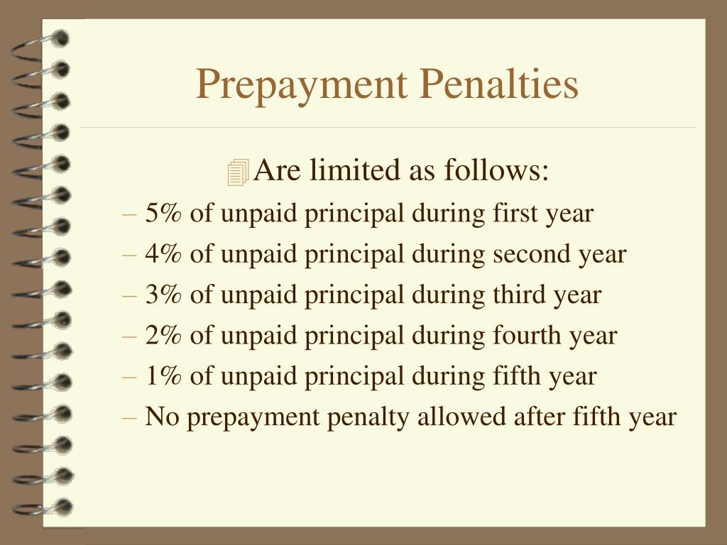 Prepayment Penalties