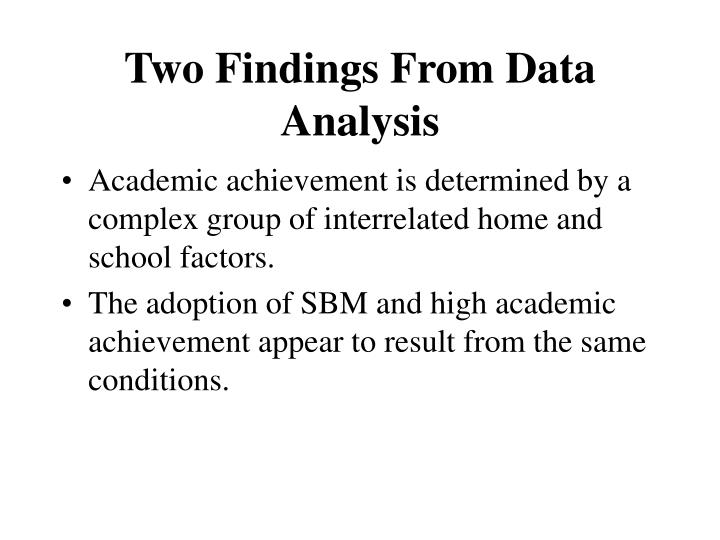 Two Findings From Data Analysis