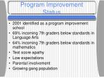 program improvement status