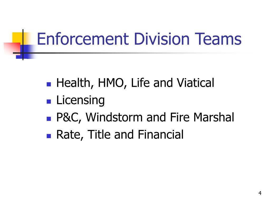 Enforcement Division Teams