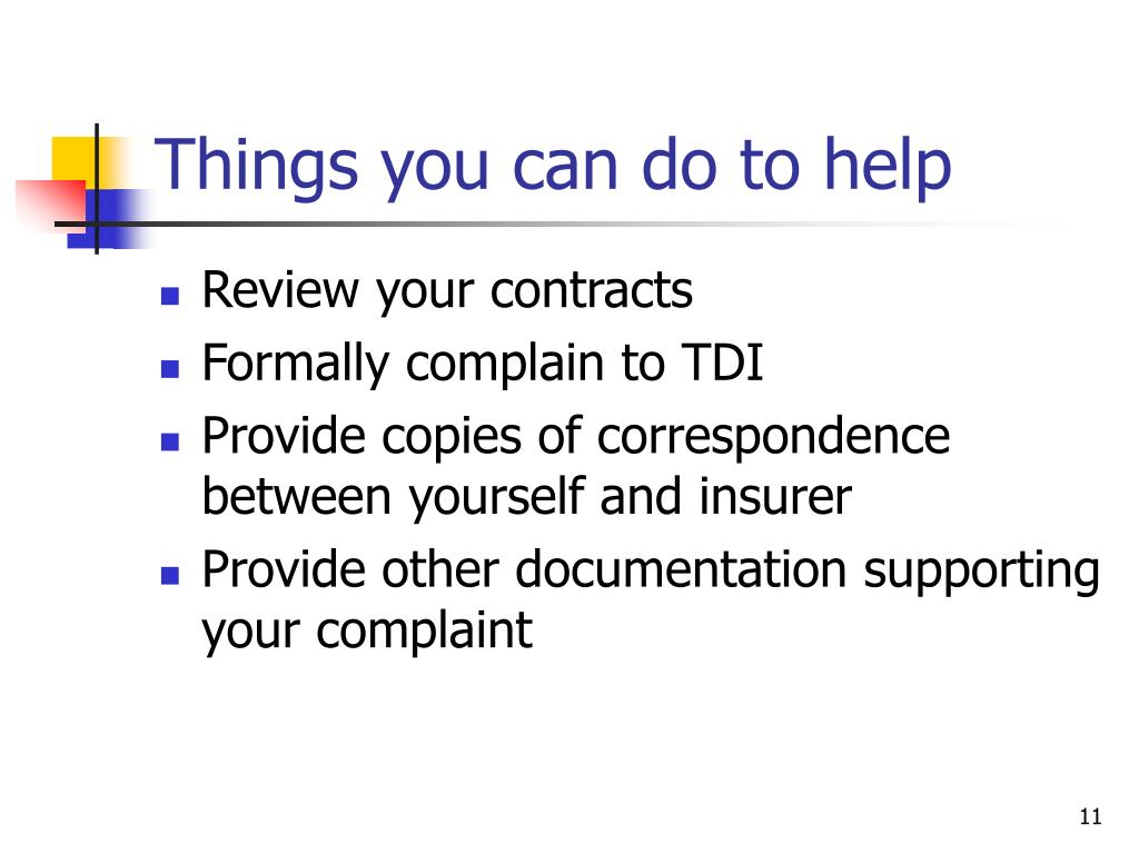 Things you can do to help