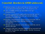 comorbid disorders in adhd adolescents