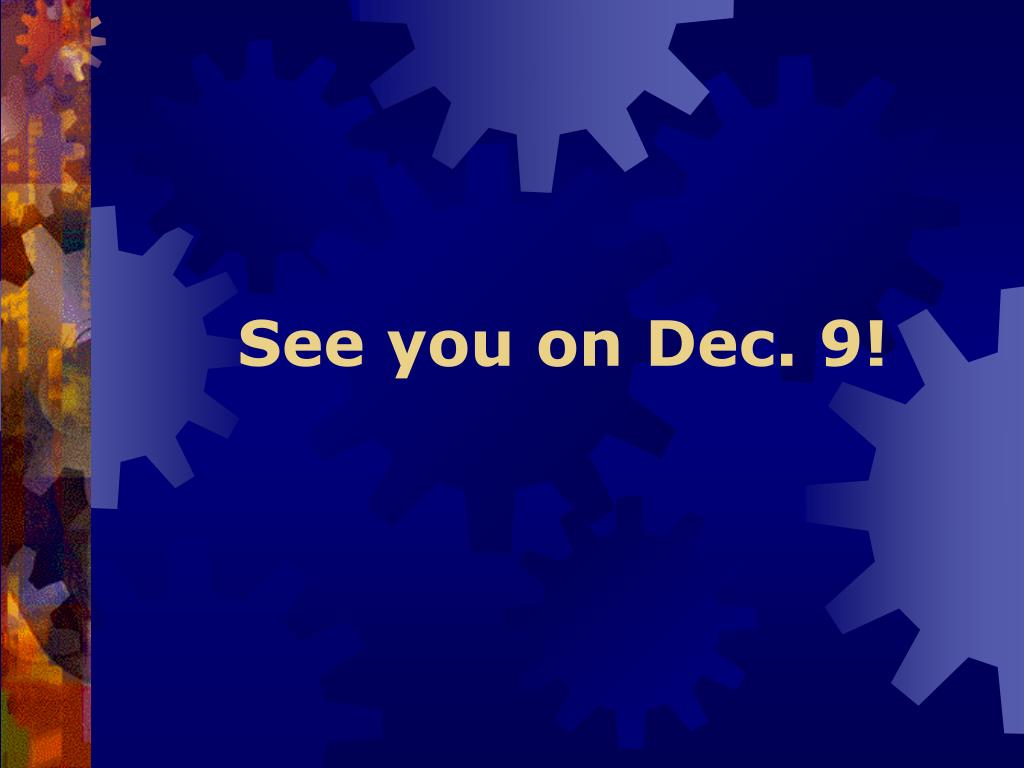 See you on Dec. 9!