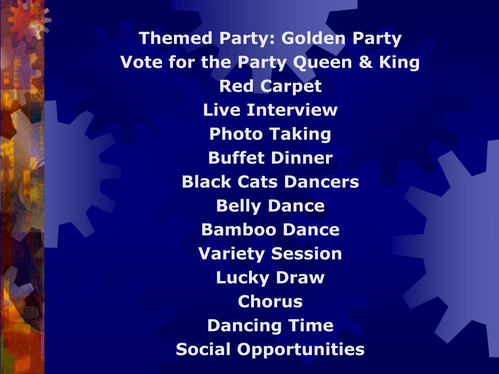 Themed Party: Golden Party