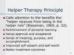 helper therapy principle