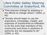 lifers public safety steering committee at graterford pa